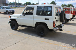 White 1985 Toyota Land Cruiser