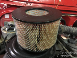 Red 1982 Toyota Land Cruiser Air Filter