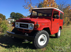 Red 1982 Toyota Land Cruiser