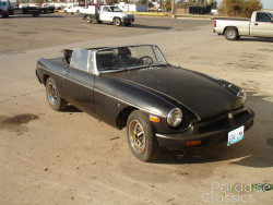 Green 1976 MG MGB