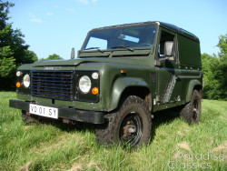 Green 1989 Land Rover Defender