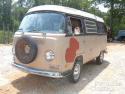 Brown 1970 Volkswagen Bus Camper