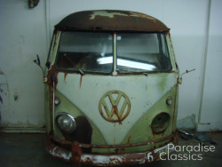 Green 1959 Volkswagen Bus