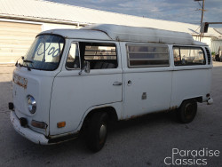 White 1970 Volkswagen Bus