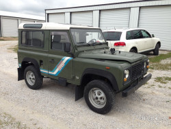 Green 1991 Land Rover Defender