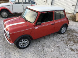 Red 1990 Mini 1000 Flame Edition