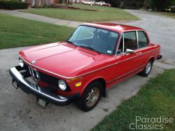 Red 1975 BMW 2002